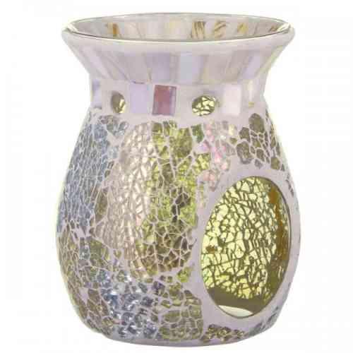 Kominek do olejków i wosków ZŁOTO-PERŁOWA MOZAIKA Gold & Pearl Mosaic Yankee Candle