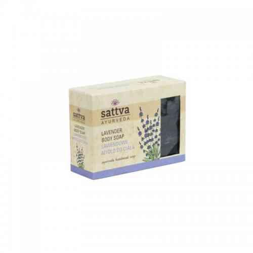 Indyjskie mydło glicerynowe LAWENDOWE 125g sattva AYURVEDA