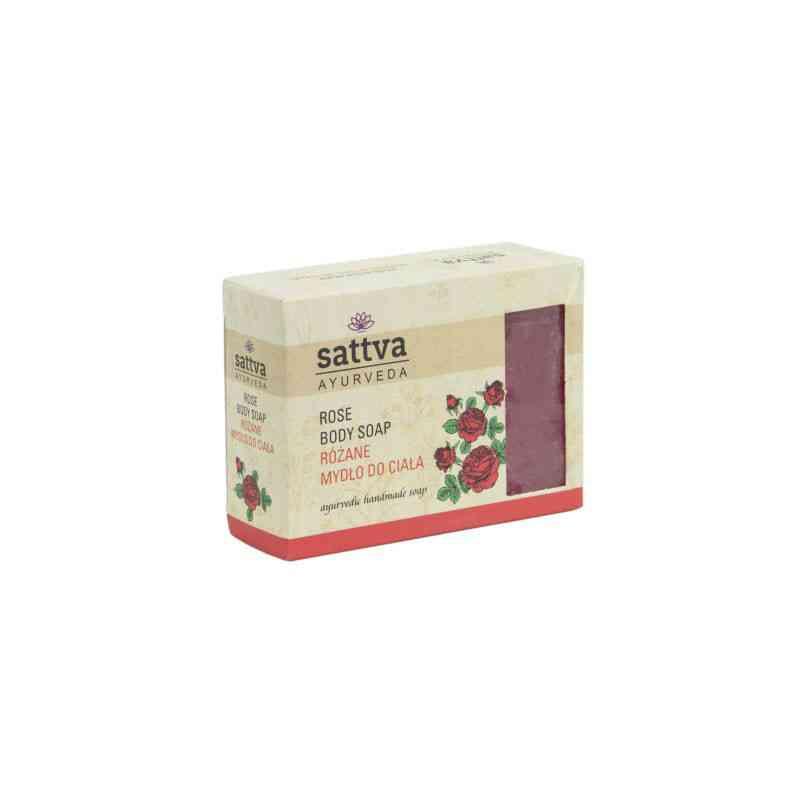 Indyjskie mydło glicerynowe RÓŻANE 125g sattva AYURVEDA