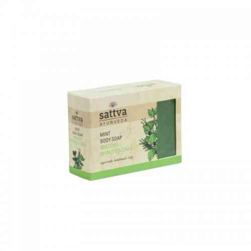 Indyjskie mydło glicerynowe MIĘTOWE 125g sattva AYURVEDA