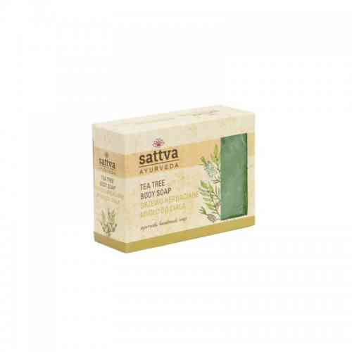 Indyjskie mydło glicerynowe DRZEWO HERBACIANE 125g sattva AYURVEDA