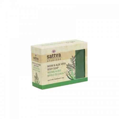 Indyjskie mydło glicerynowe NEEM I ALOES 125g sattva AYURVEDA