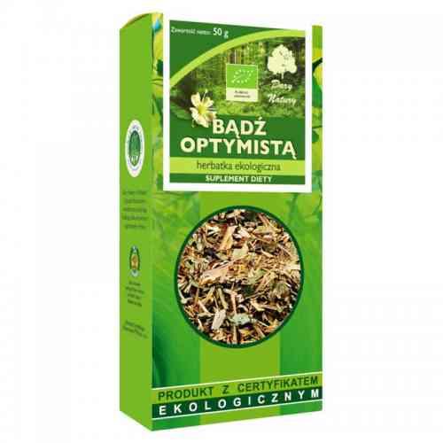 Herbata BĄDŹ OPTYMISTĄ ekologiczna 50g Suplement diety Dary Natury