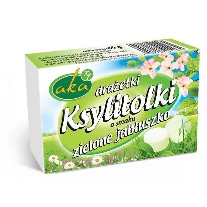 Ksylitolki ZIELONE JABŁUSZKO - drażetki pudrowe 40 g AKA