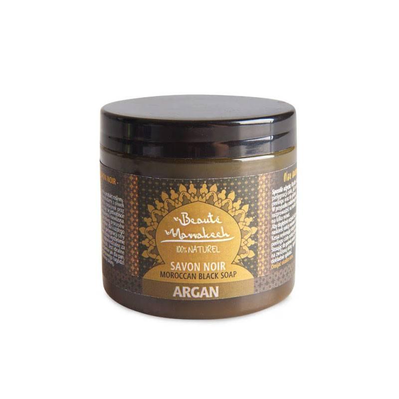 Czarne mydło Savon Noir ARGANOWE 200 g Beaute Marrakech