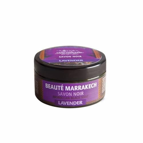 Czarne mydło Savon Noir LAWENDOWE 100 g Beaute Marrakech