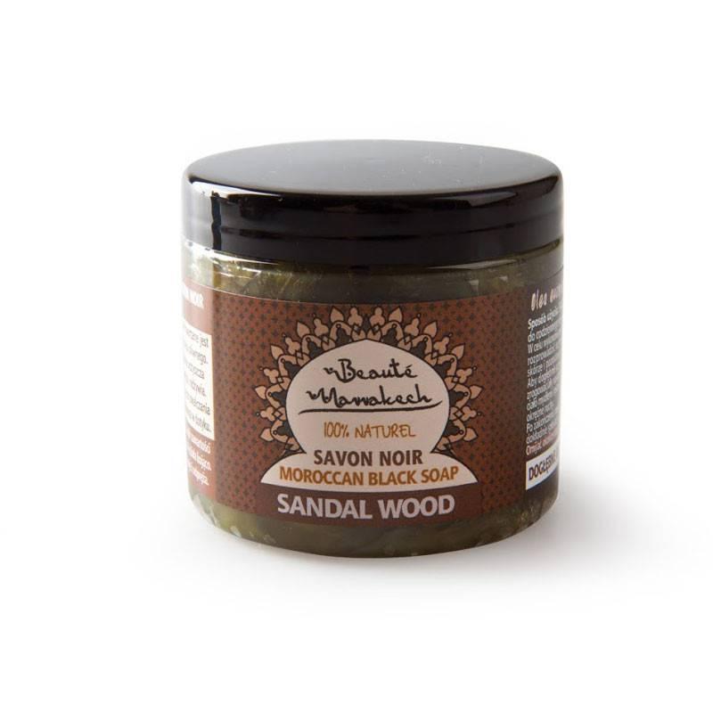 Czarne mydło Savon Noir DRZEWO SANDAŁOWE 200 g Beaute Marrakech