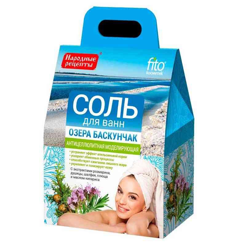 Sól do kąpieli z jeziora Baskunczak ANTYCELLULITOWA 500g Fitokosmetik