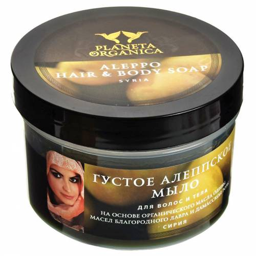 Mydło do włosów i ciała ALEPPO bogaty skład 450ml Planeta Organica