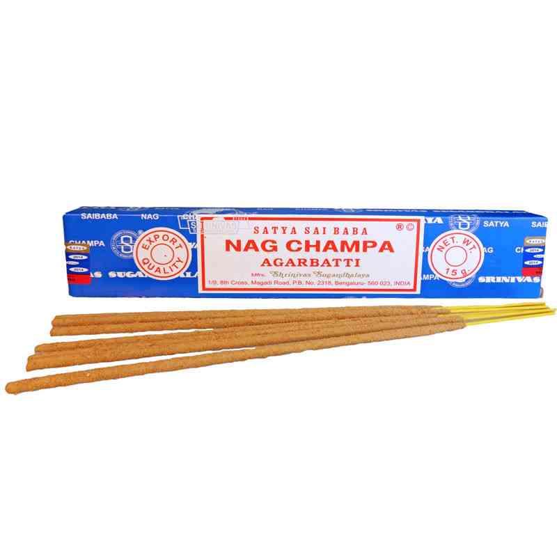 Kadzidła szlachetne pyłkowe NAG CHAMPA Sai Baba 15g SATYA