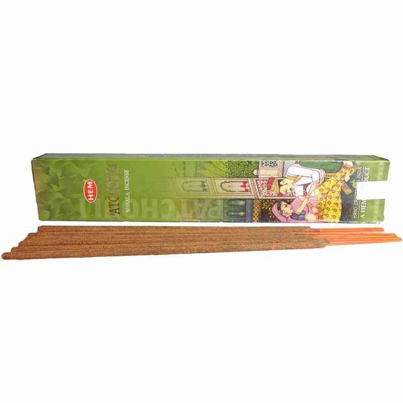 Kadzidła szlachetne pyłkowe PACZULA 15g Premium Masala HEM