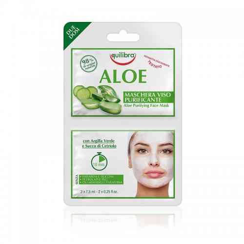 Aloesowa oczyszczająca maseczka do twarzy 2 x 7,5 ml Equilibra