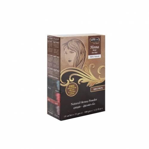HENNA - naturalna farba do włosów BRĄZ z cert. ECOCERT 100g Hemani