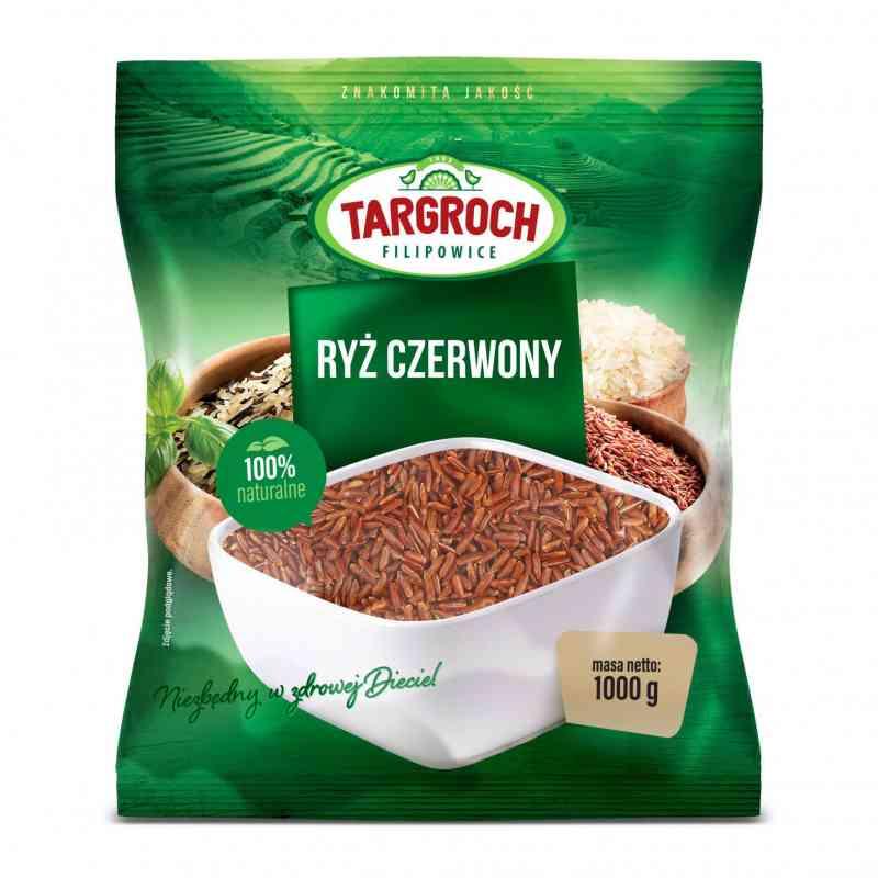 Ryż CZERWONY tajski 1kg Targroch