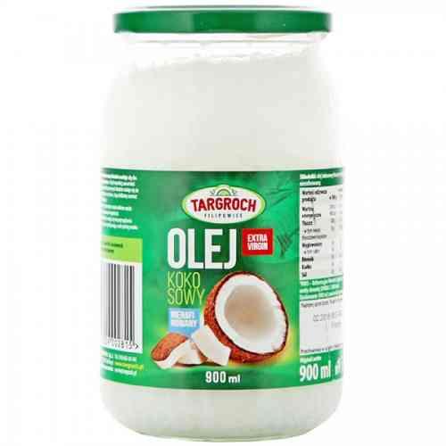 Olej kokosowy nierafinowany tłoczony na zimno 900ml Targroch