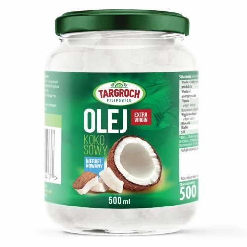 Olej kokosowy nierafinowany tłoczony na zimno 500ml Targroch