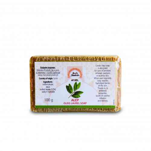 Mydło oliwkowo-laurowe Alep (12% oleju laurowego) 100 g, Beaute Marrakech
