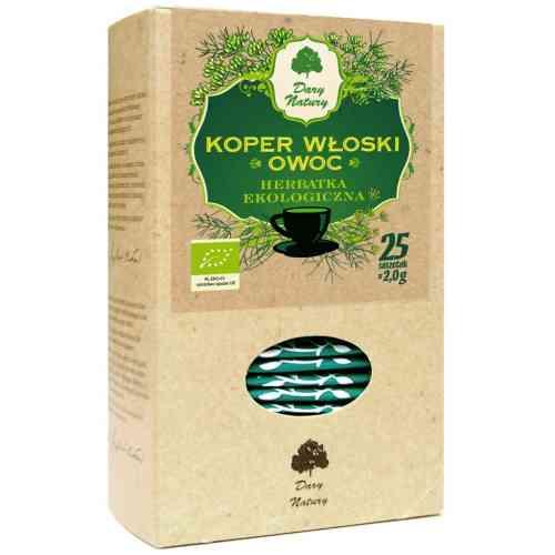 Herbata z kopru włoskiego (koper włoski owoc) ekologiczna 25x2g Dary Natury