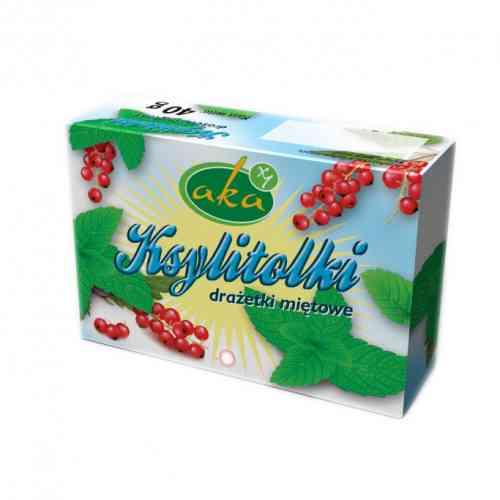 Ksylitolki MIĘTOWE - drażetki pudrowe 40 g AKA
