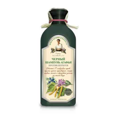 Czarny ziołowy szampon do wszystkich typów włosów 350ml Recepty Babuszki Agafii