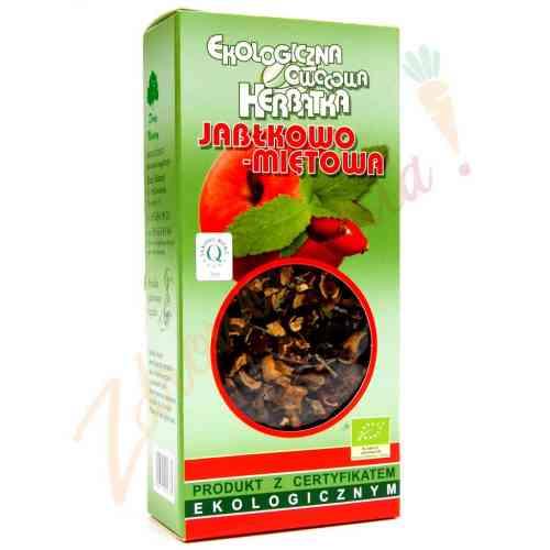Herbata jabłkowo-miętowa 100g sypana EKO