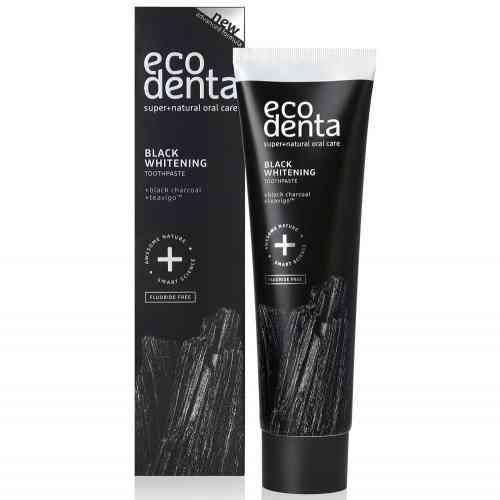 Czarna wybielająca pasta do zębów bez fluoru Ecodenta 100 ml
