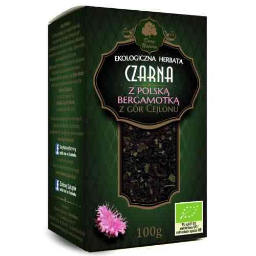 Herbata czarna cejlońska Z POLSKĄ BERGAMOTKĄ ekologiczna 100 g Dary Natury