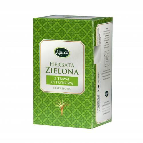 Herbata zielona z trawą cytrynową 20x2g Kawon