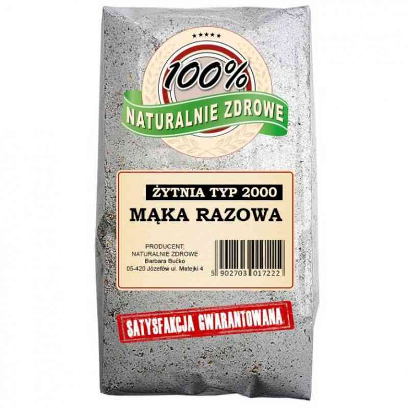 Mąka żytnia chlebowa RAZOWA typ 2000 1kg Naturalnie Zdrowe