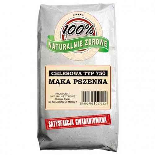 Mąka PSZENNA chlebowa typ 750 1kg Naturalnie Zdrowe