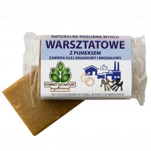 Roślinne mydło WARSZTATOWE z pumeksem i olejami 150g Powrót do Natury