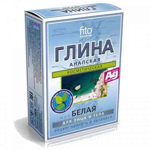 Biała glinka ANAPSKA z jonami srebra w proszku 100g Fitokosmetik