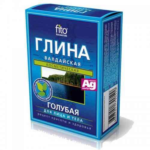 Błękitna glinka WAŁDYJSKA z jonami srebra w proszku 100g Fitokosmetik
