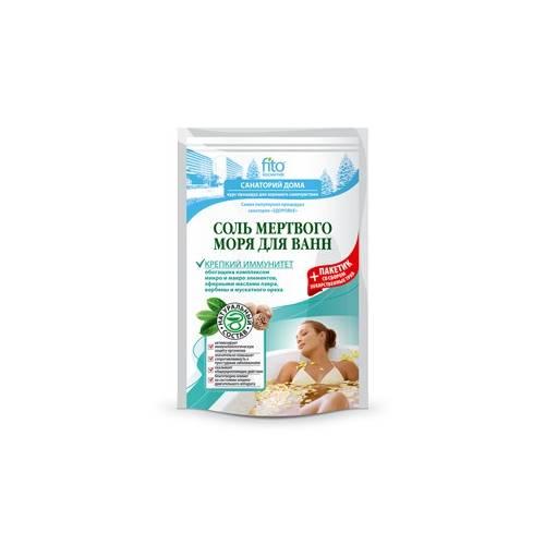 Sól do kąpieli z MORZA MARTWEGO 500 g + dodatek ziołowy wzmacniający odporność 30 g Fitokosmetik