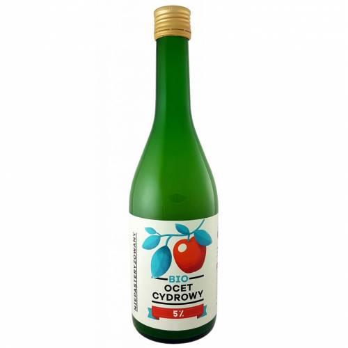 Ocet jabłkowy CYDROWY ekologiczny 5% kwasowości 700ml Pięć Przemian