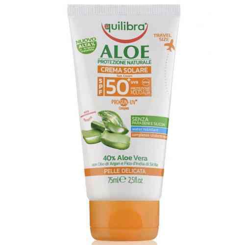 Aloesowy krem przeciwsłoneczny SPF 50+ UVA, UVB 75ml Equilibra