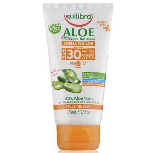 Aloesowy krem przeciwsłoneczny SPF 30 UVA, UVB 75ml Equilibra