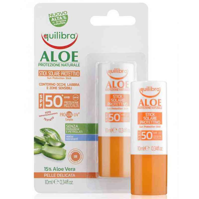 Aloesowy sztyft przeciwsłoneczny  SPF 50+ UVA, UVB 10ml Equilibra