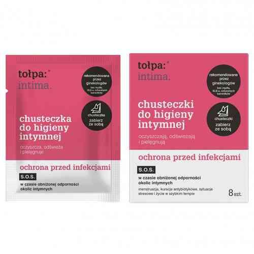 Chusteczki do higieny intymnej, ochrona przed infekcjami 8szt. Tołpa intima