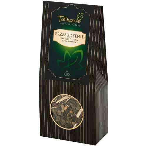 Herbata zielona z żeń-szeniem PRZEBUDZENIE 75g Taheebo