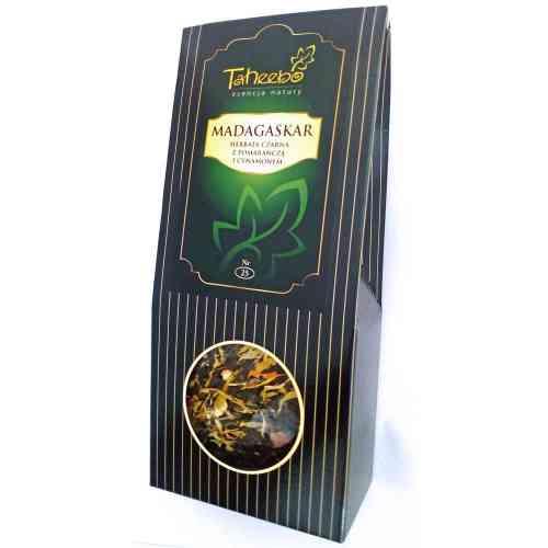 Herbata czarna MADAGASKAR z pomarańczą i cynamonem 75g Taheebo
