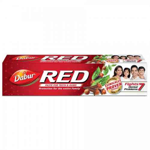 Ostra, duża pasta do zębów RED school kit 200g Dabur