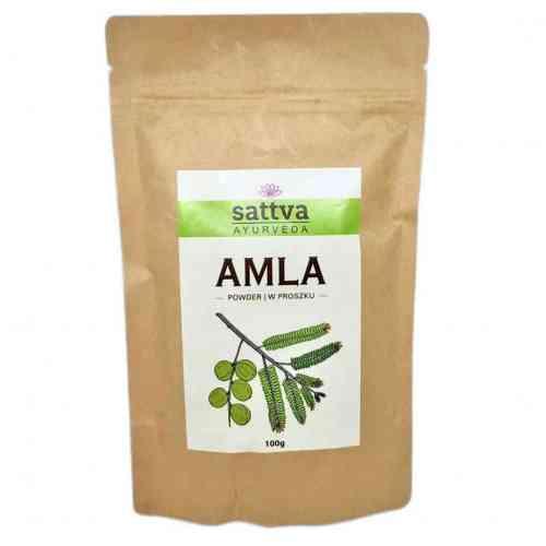 AMLA zioła w proszku do włosów 100g sattva AYURVEDA