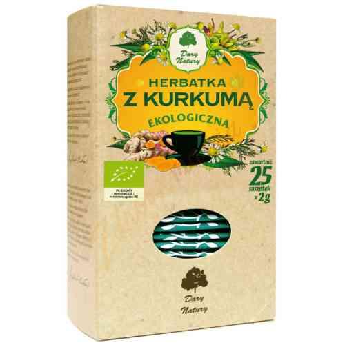 Ekologiczna herbata z kurkumą 25x2g Dary Natury