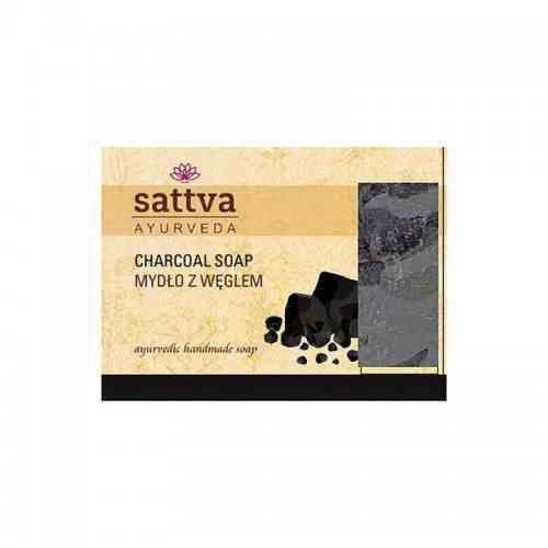 Indyjskie mydło glicerynowe WĘGLOWE 125g sattva AYURVEDA