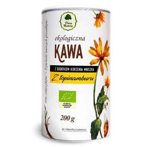 """Kawa z topinamburu z korzeniem mniszka """"kawa dla cukrzyków"""" ekologiczna 200g Dary Natury"""