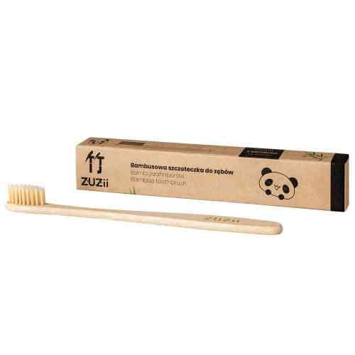 Bambusowa szczoteczka do zębów dla dorosłych BEŻ Zuzii