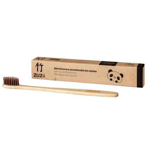 Bambusowa szczoteczka do zębów dla dorosłych BRĄZ Zuzii