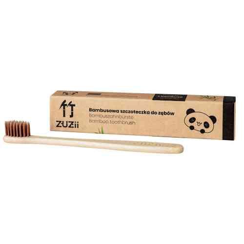 Bambusowa szczoteczka do zębów dla dzieci BRĄZ Zuzii