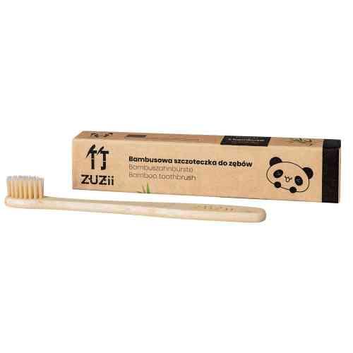 Bambusowa szczoteczka do zębów dla dzieci BEŻ Zuzii